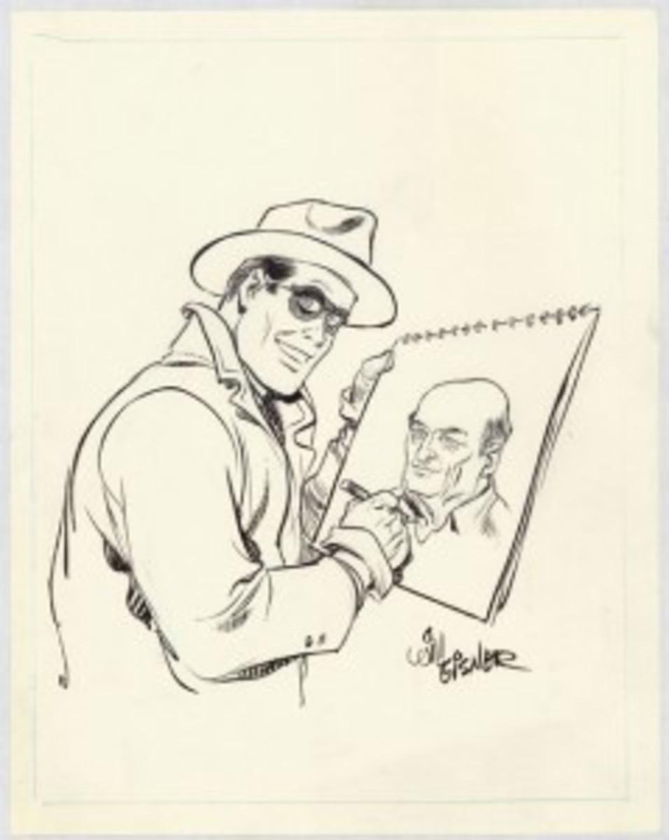 The Spirit drawing Eisner
