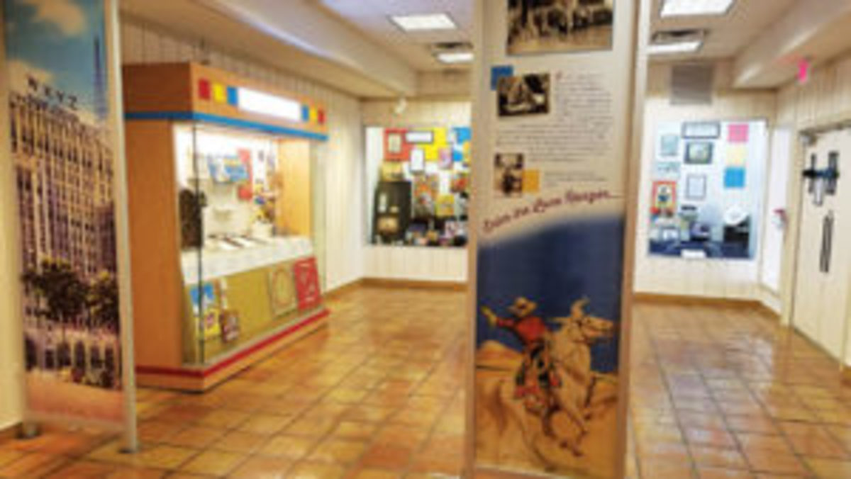 The Lone Ranger exhibit at Texas Ranger Hall of Fame and Museum