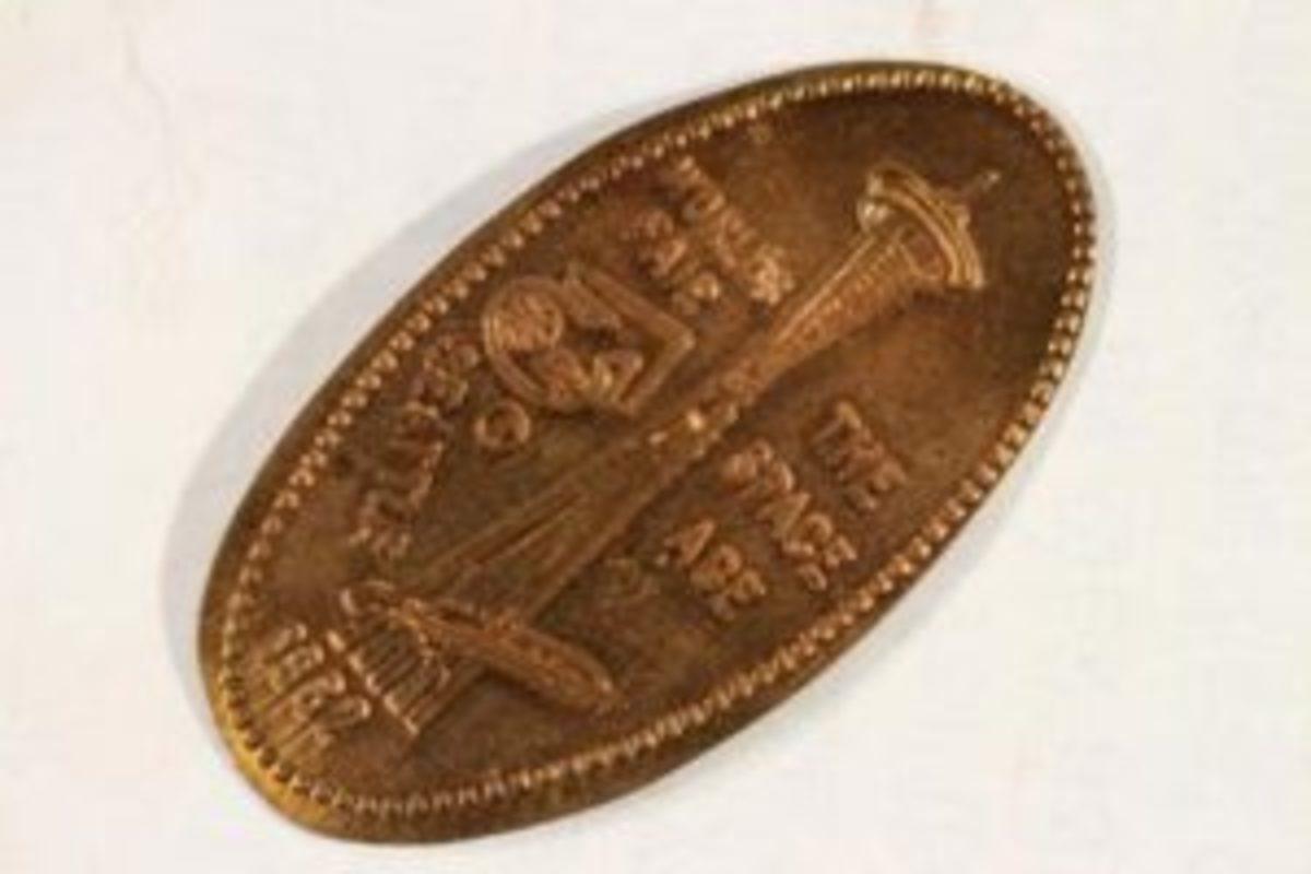 1962 Seattle World's Fair elongated cent