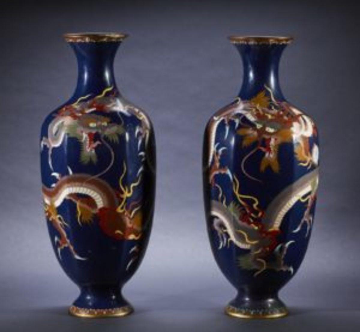 Meiji period vases
