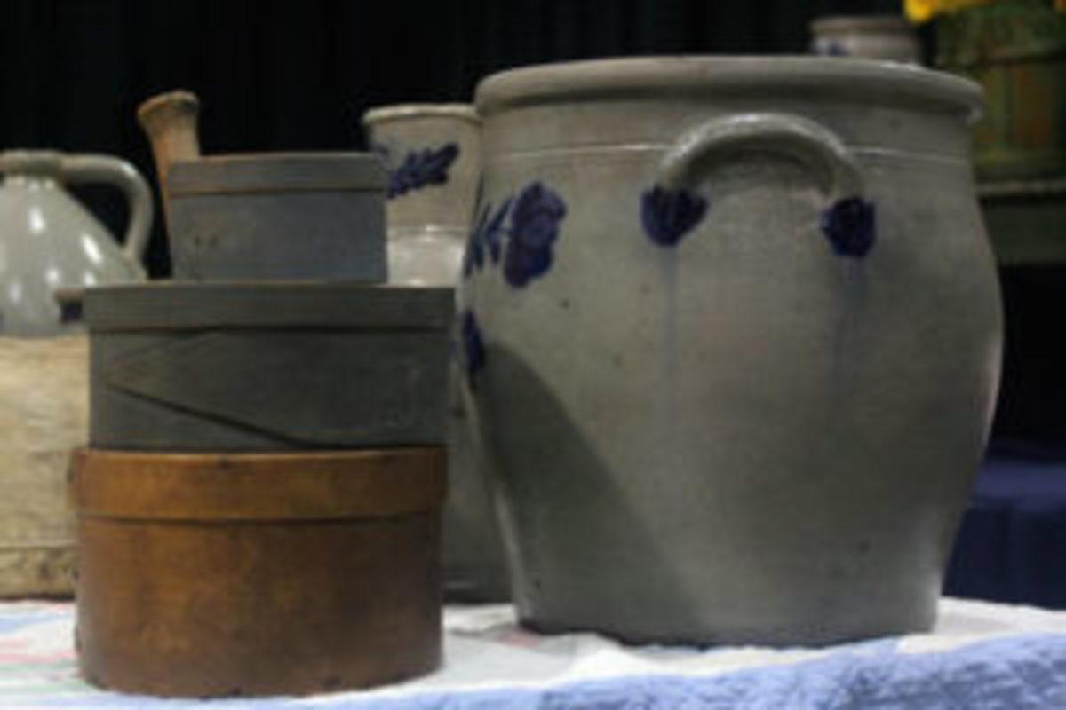 antique storage vessels stoneware