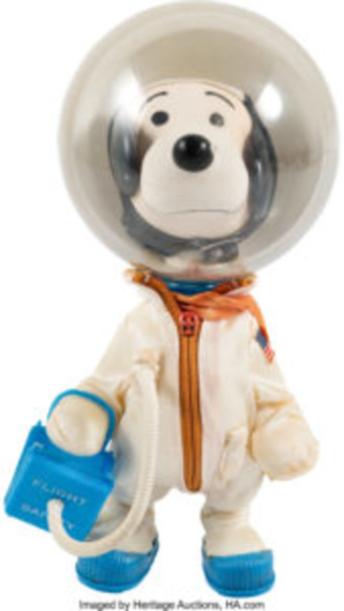 "Apollo 10 original ""Snoopy Astronaut"" doll, CAG Certified, 1969, Determined Productions, 9"" h, from the Neil Armstrong Family Collection, $12,500. Courtesy of Heritage Auctions"