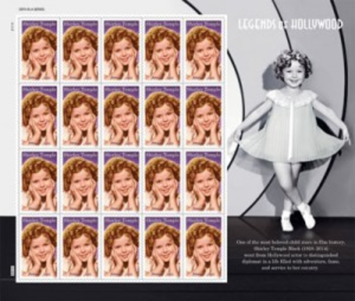 Shirley Temple stamps