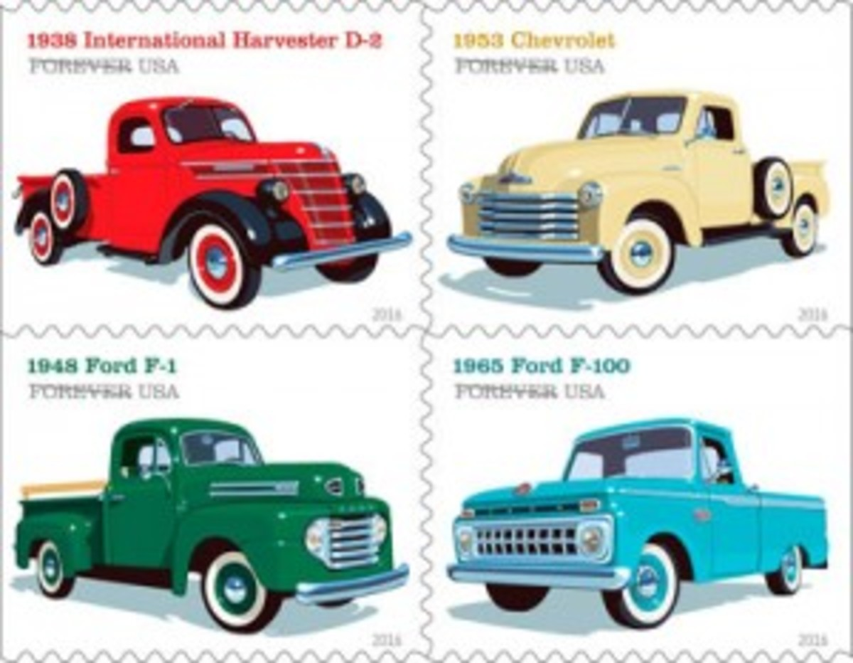 Pickup trucks stamps