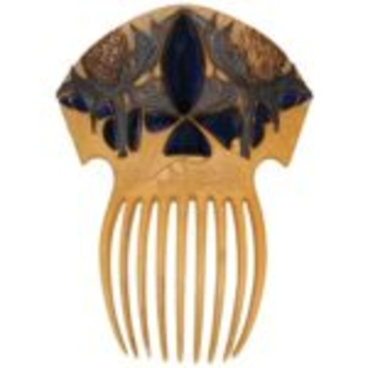 René Lalique (1860-1945) Sea Holly hair comb 3 3/4 inches wide by 5 1/4 inches long, sold for $170,000 through Treadway Toomey Auctions. Courtesy of Treadway Toomey Auctions, Oak Park, Illinois.