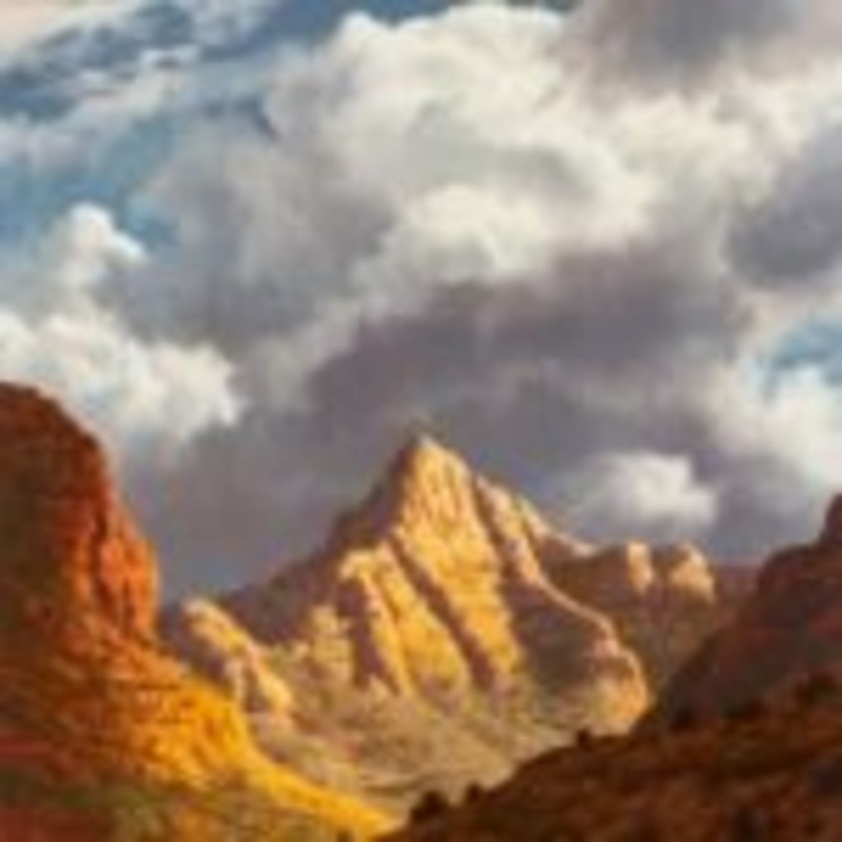 "James A. Fetherolf (1925-1994 Camarillo, CA), ""Sedona's Matterhorn,"" oil on canvas, 14"" h. x 11"" w., $4,375."