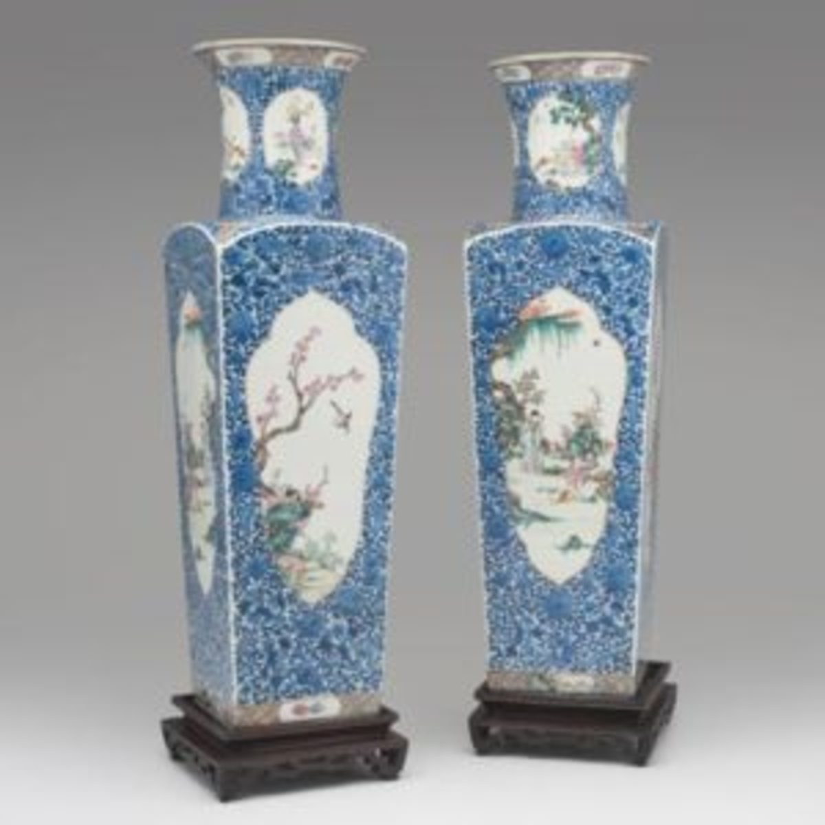 Chinese square vases