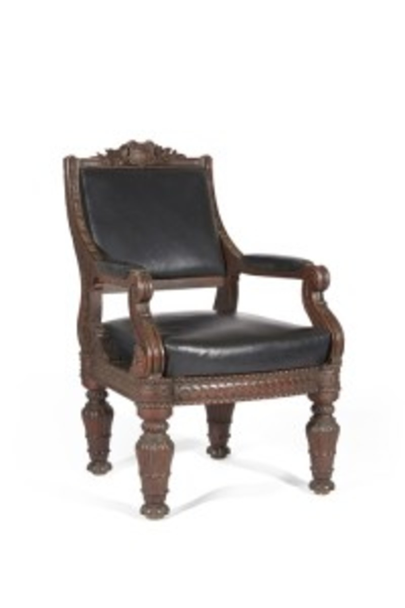 Historic 'Brady chair' (Photo courtesy Bonhams)