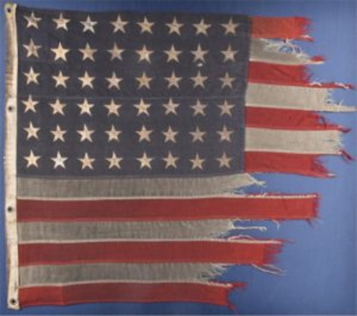 American flag from D-Day