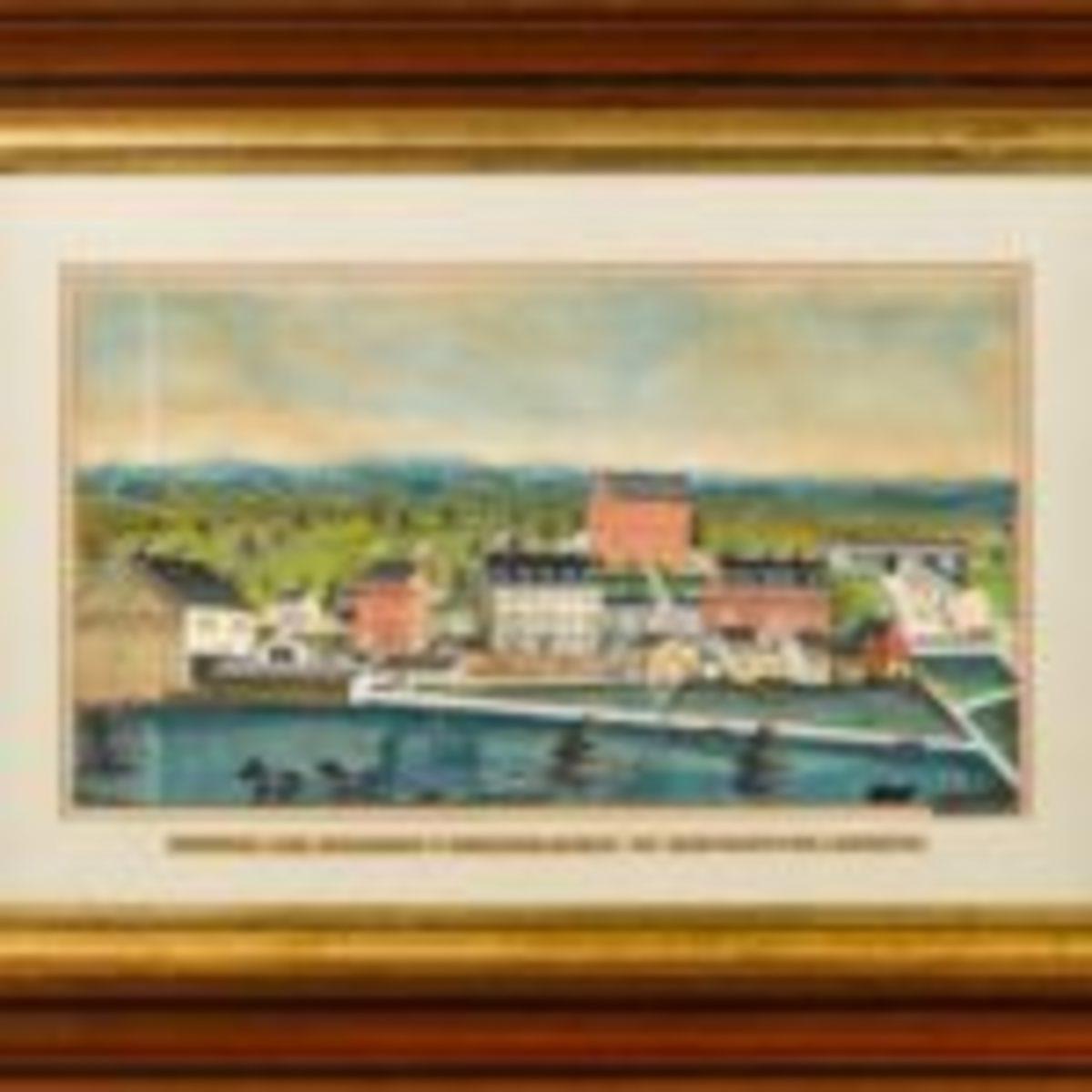 Charles Hoffman, watercolor landscape ($30,000-$50,000)