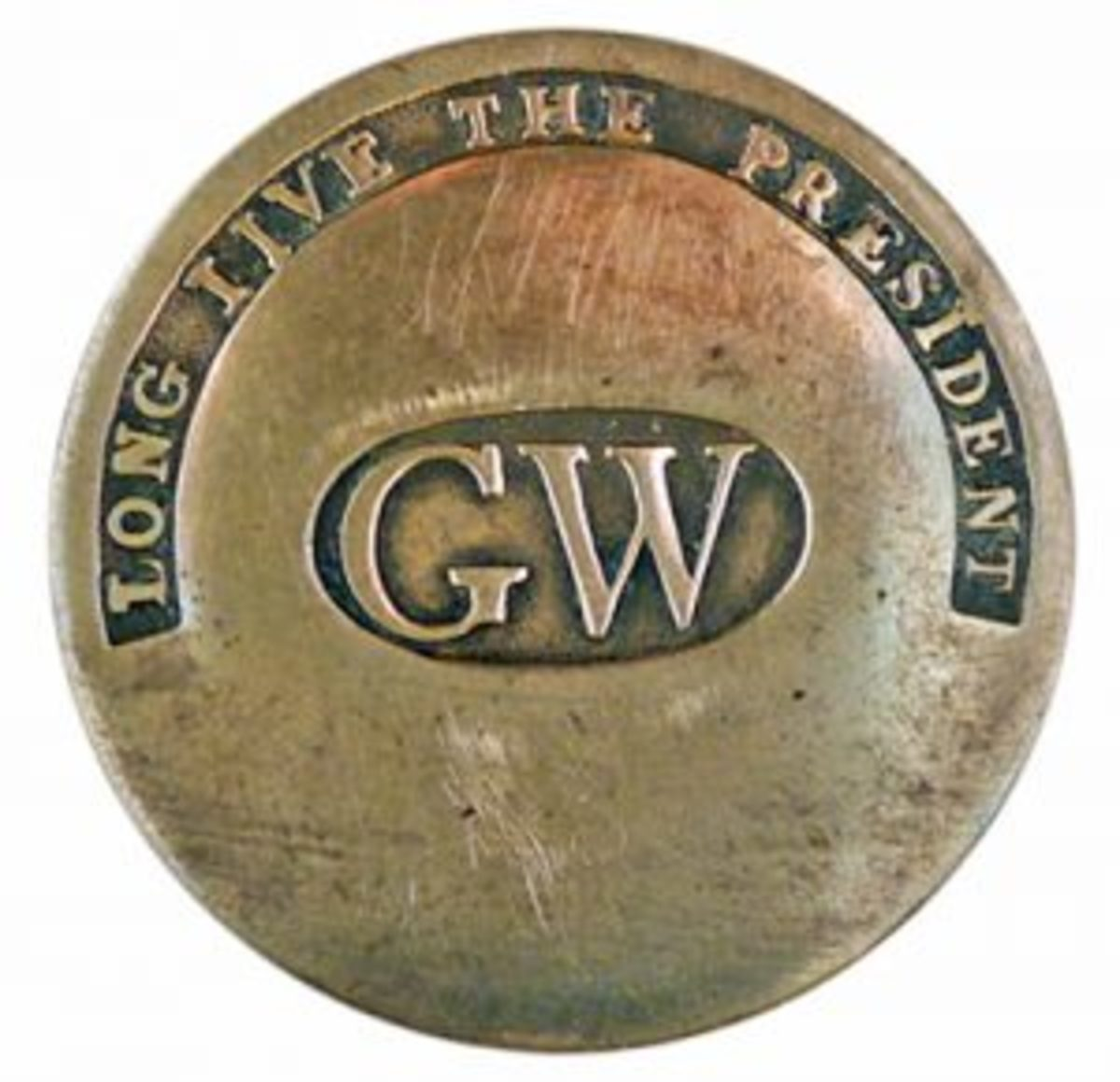 George Washington's inauguration clothing button