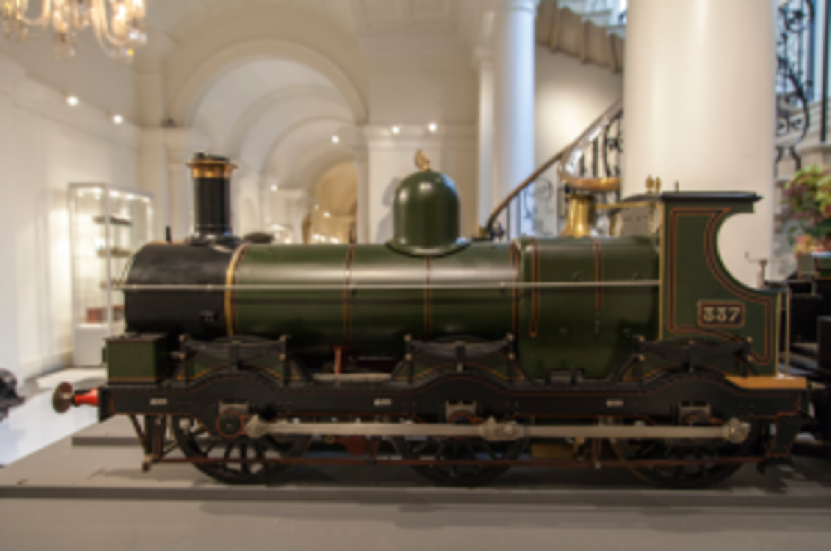 Side view of locomotive
