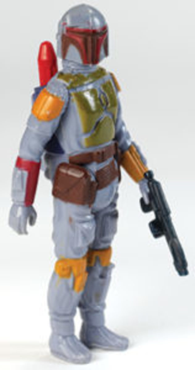 One of the most popular Star Wars characters of all time, the Boba Fett action figure was mass released in 1979 with a retail price of $1.99.Image courtesy of Mark Bellomo