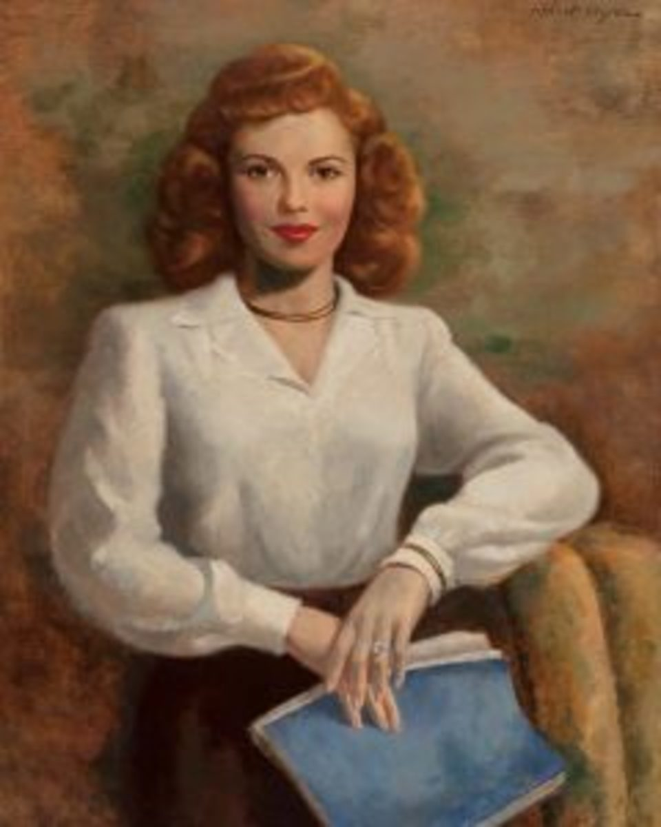 Ayres portrait of Shirley Temple Black