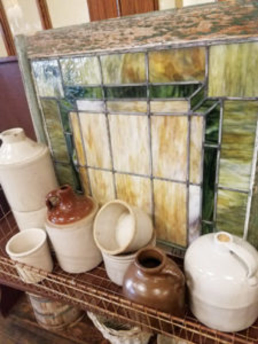 Stoneware display at Treasures Under Sugar Loaf