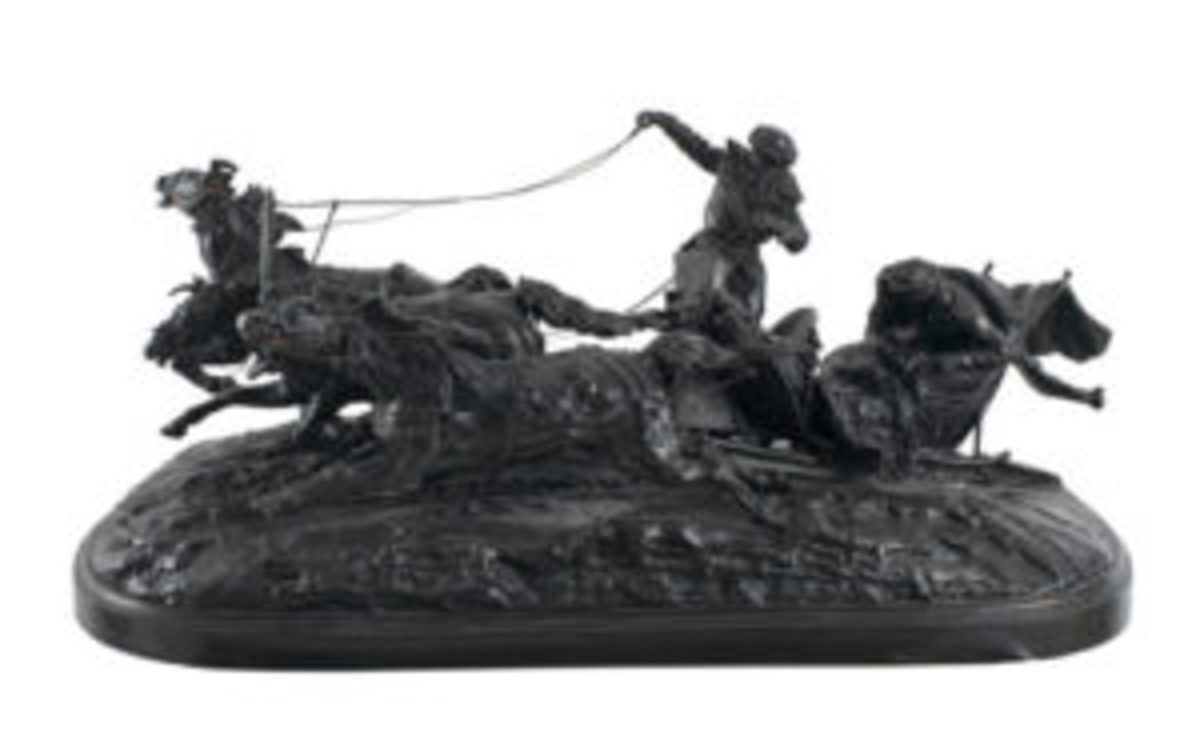 Important Lanceray Russian bronze.