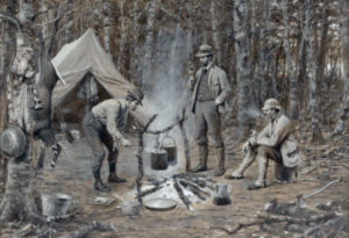 'Supper in Camp' painting