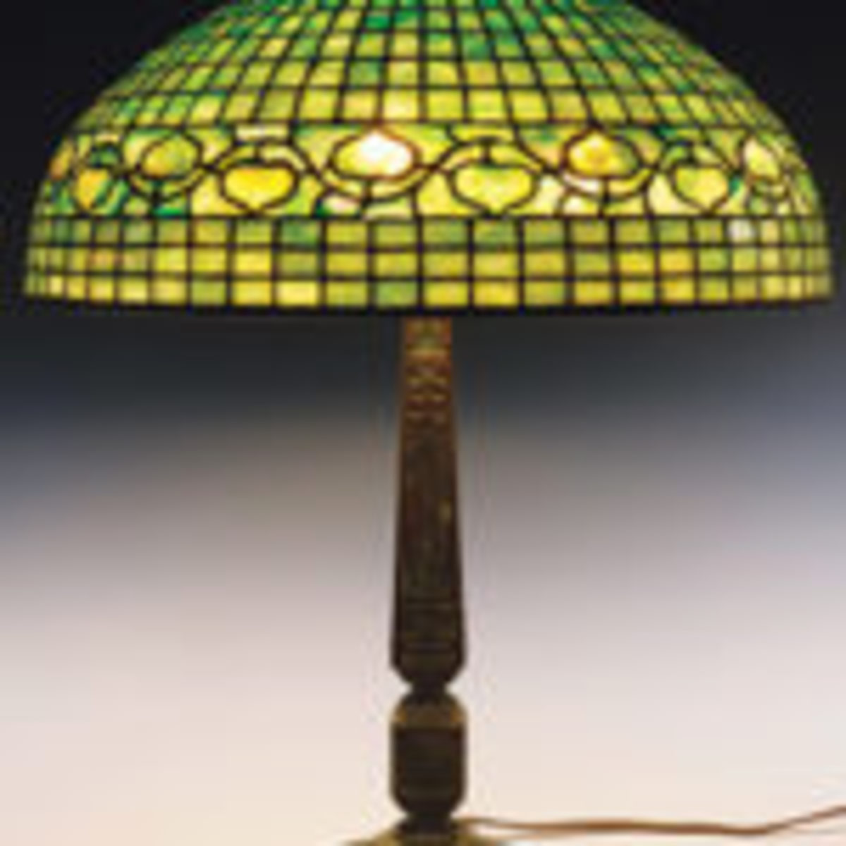 Tiffany table lamp with Acorn pattern shade