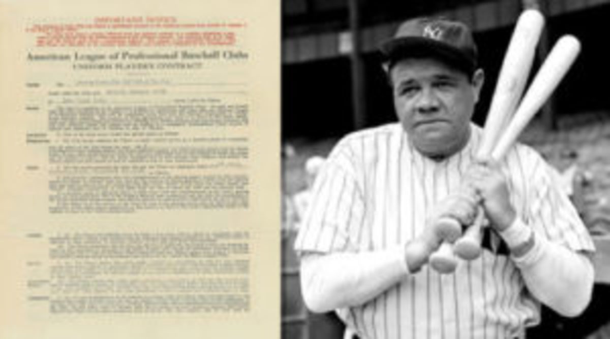 Babe Ruth player's contract