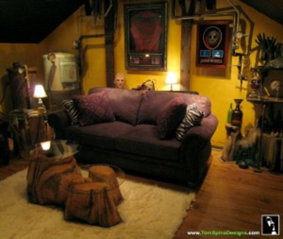 Unique man cave design by Tom Spina Designs. www.tomspinadesigns.com.