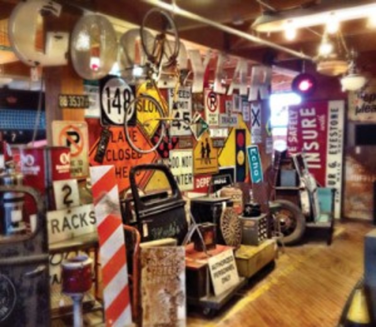 Vintage signs at West End Architectural Salvage