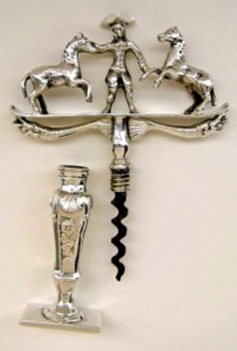 Silver dutch farmer corkscrew