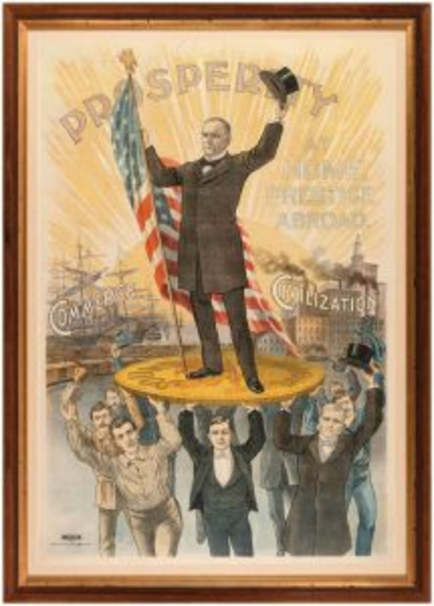 McKinley 'Prosperity' color litho