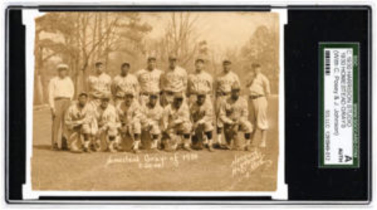 Homestead Grays real-photo postcard