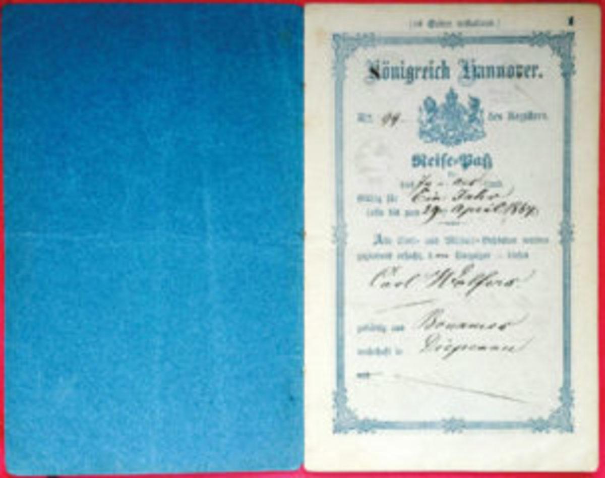 Kingdom of Hannover passport