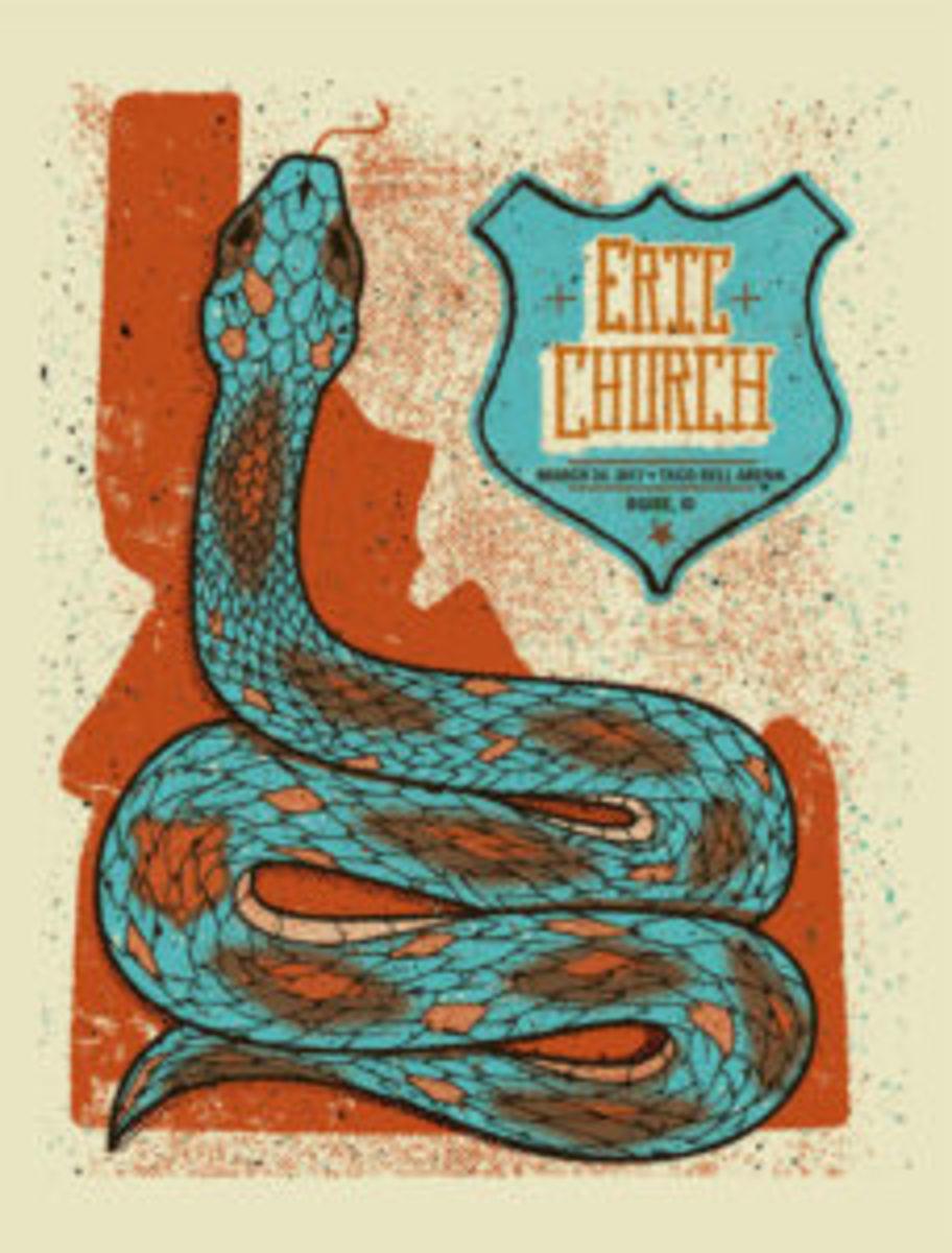 eric church concert poster