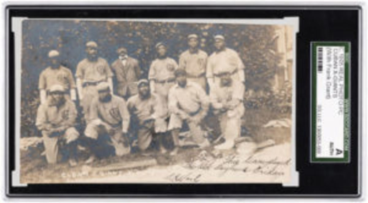1905 Negro League Cuban X-Giants real-photo postcard