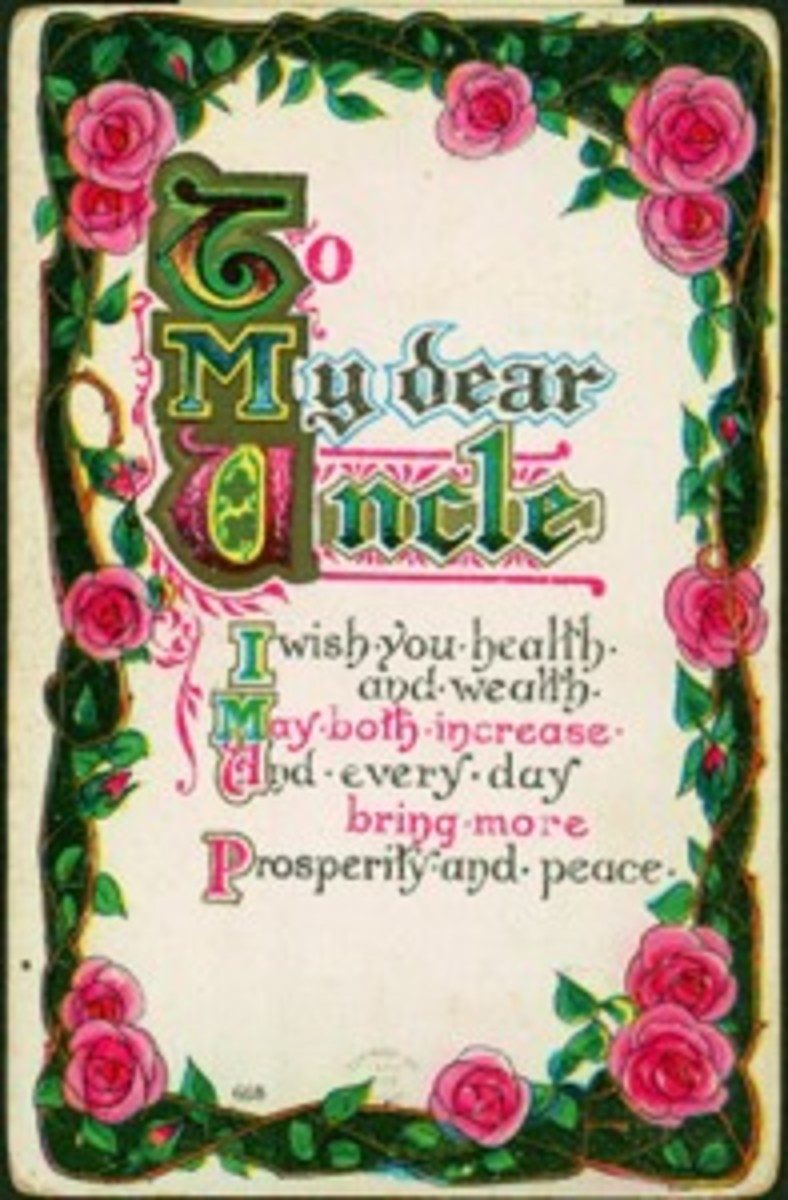 Dear Uncle postcard