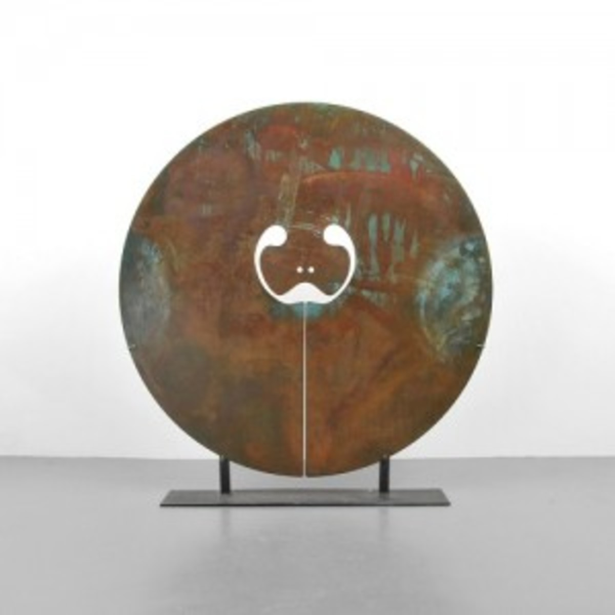 One of three important Harry Bertoia (American, 1915-1978) sculptures included in Nov. 1 auction, 'Split Gong,' bronze with applied patina, 1976, est. $60,000-$80,000. Palm Beach Modern Auctions image