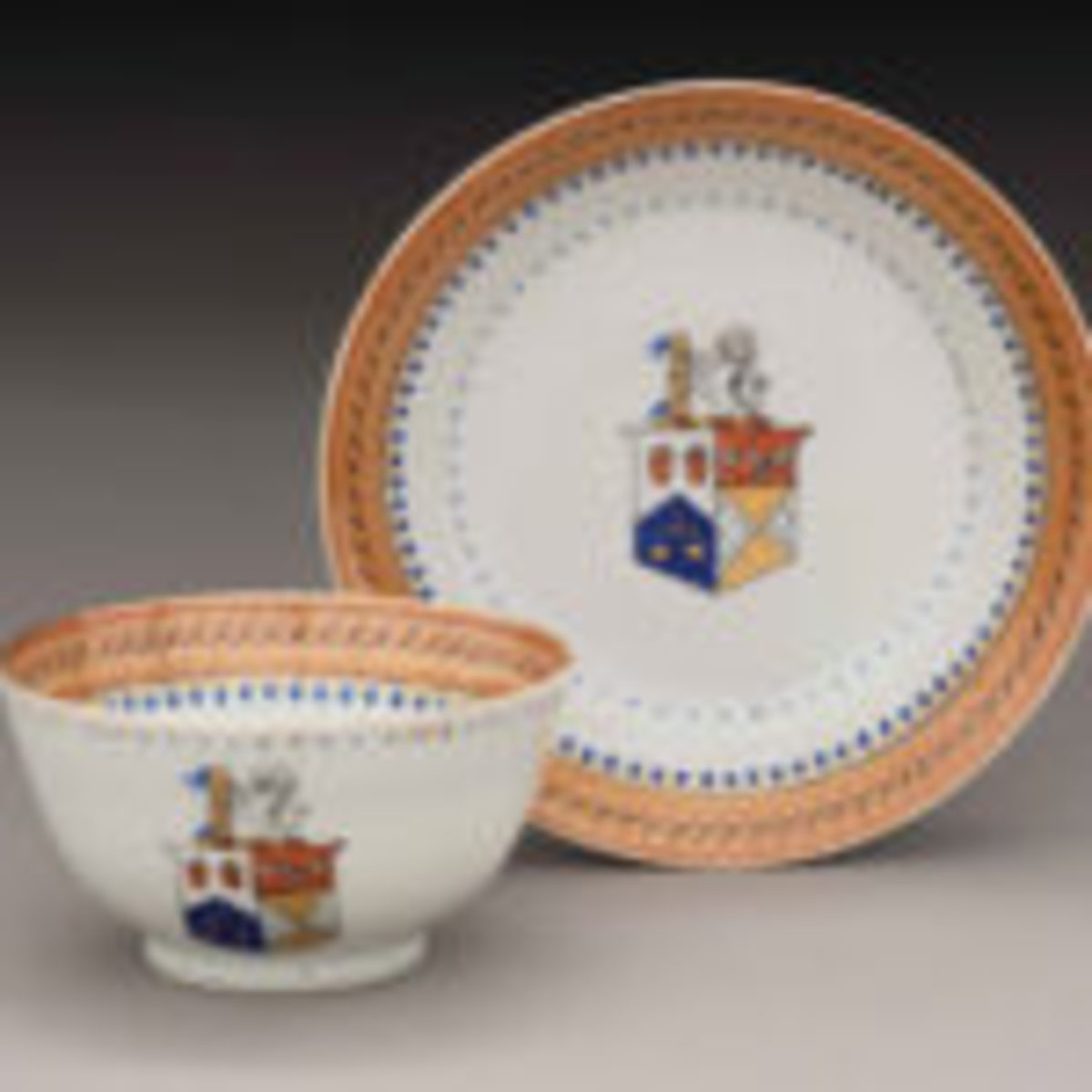 Cup and Saucer, Jingdezhen, China, circa 1805, hard-paste porcelain, Museum Purchase, The Buddy Taub Foundation, Dennis A. Roach and Jill Roach Directors, 2016-117, A&B