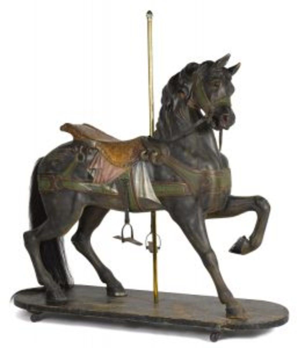 Dentzell carved carousel horse