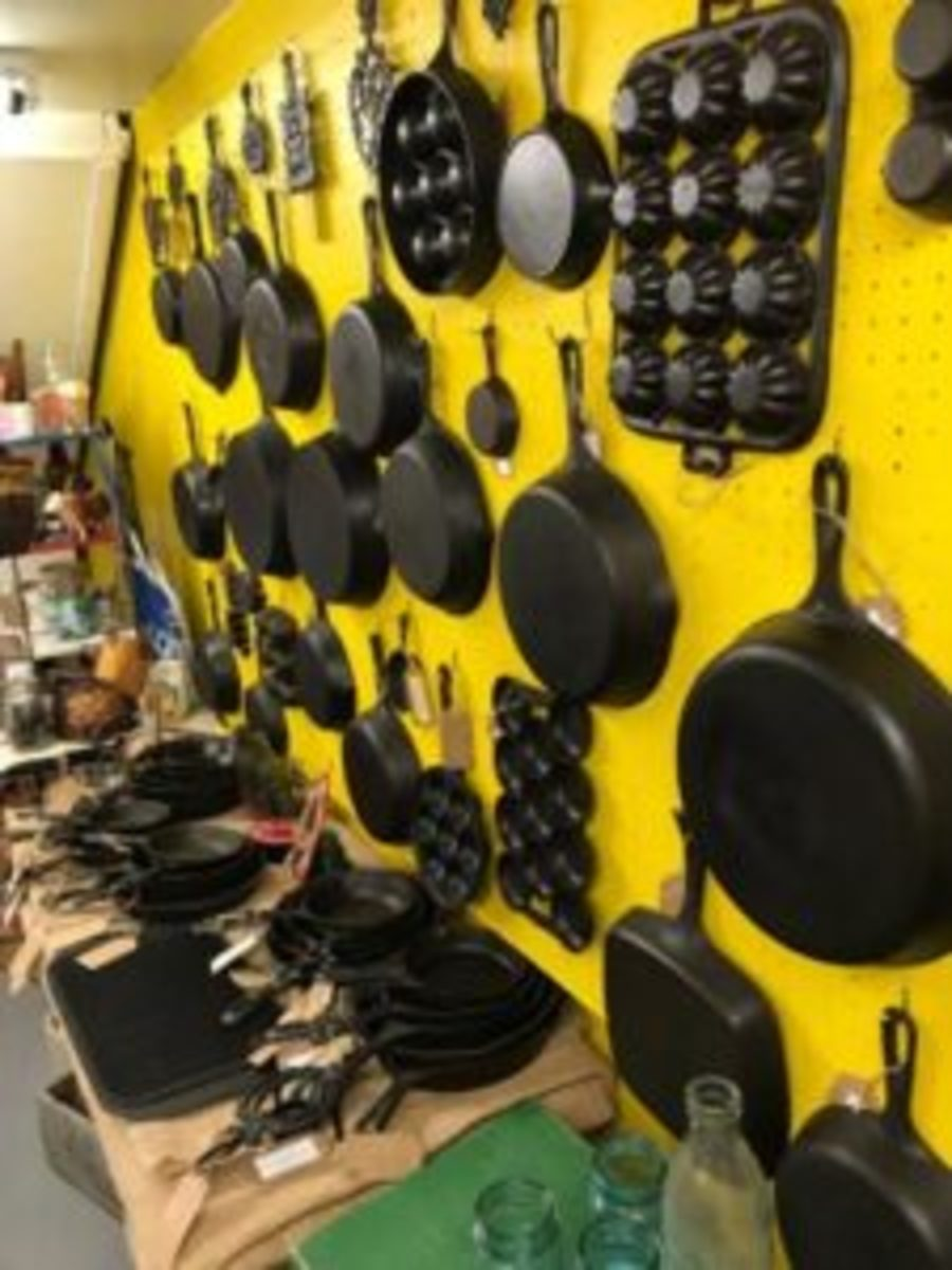 Display area with cast iron