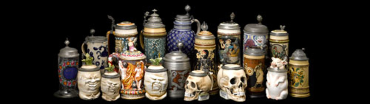 Pook & Pook will be offering many collectible steins in its June 26 online decorative arts auction.