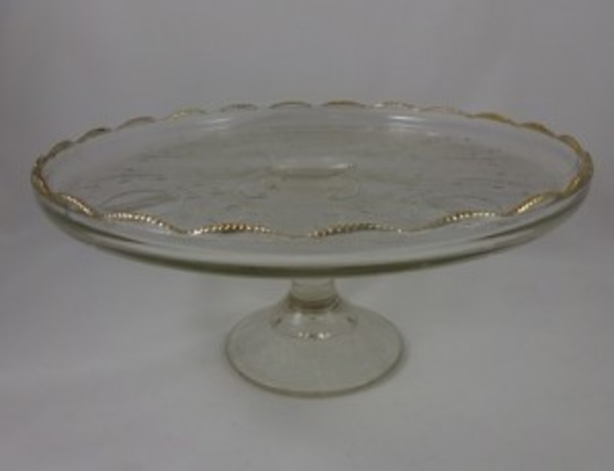 Jeanette Glass cake plate
