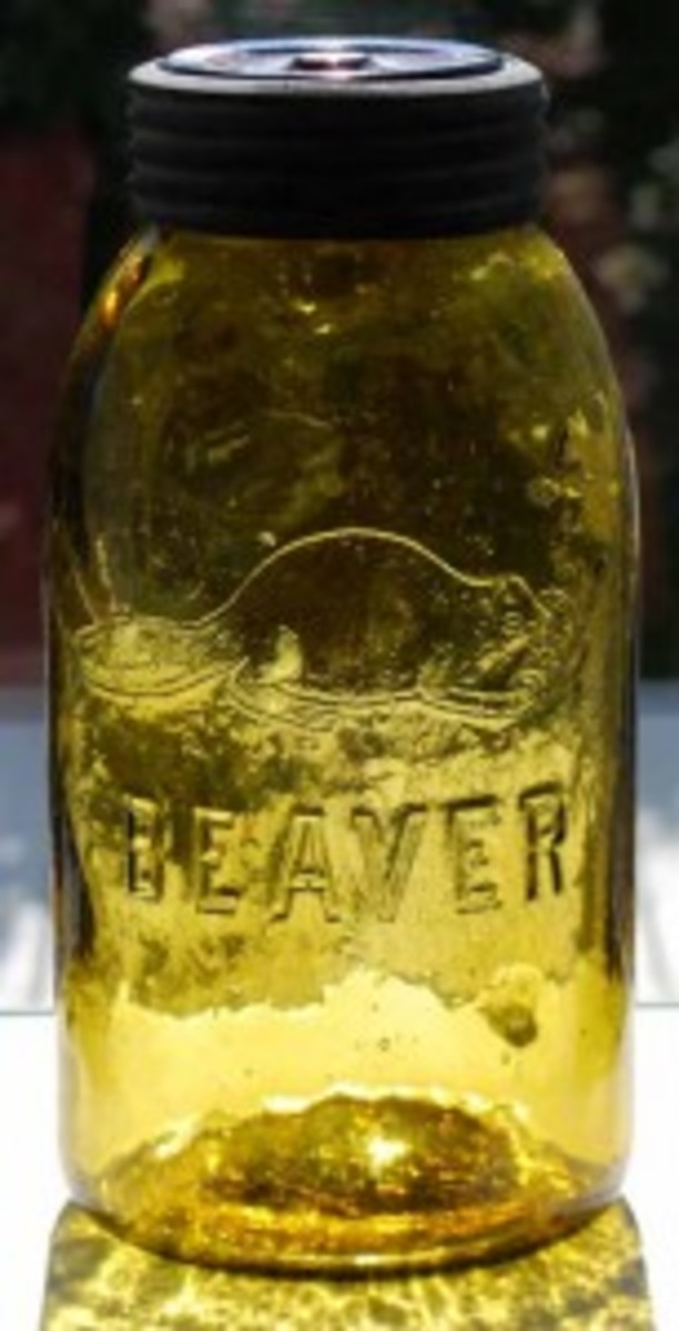 Beaver fruit jar