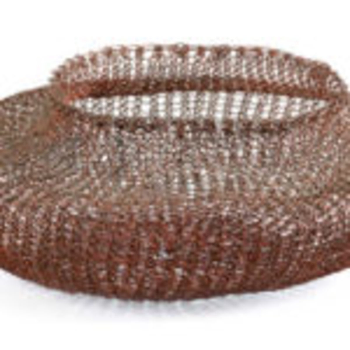 Woven enameled copper wire basket by Ruth Asawa, $72,000