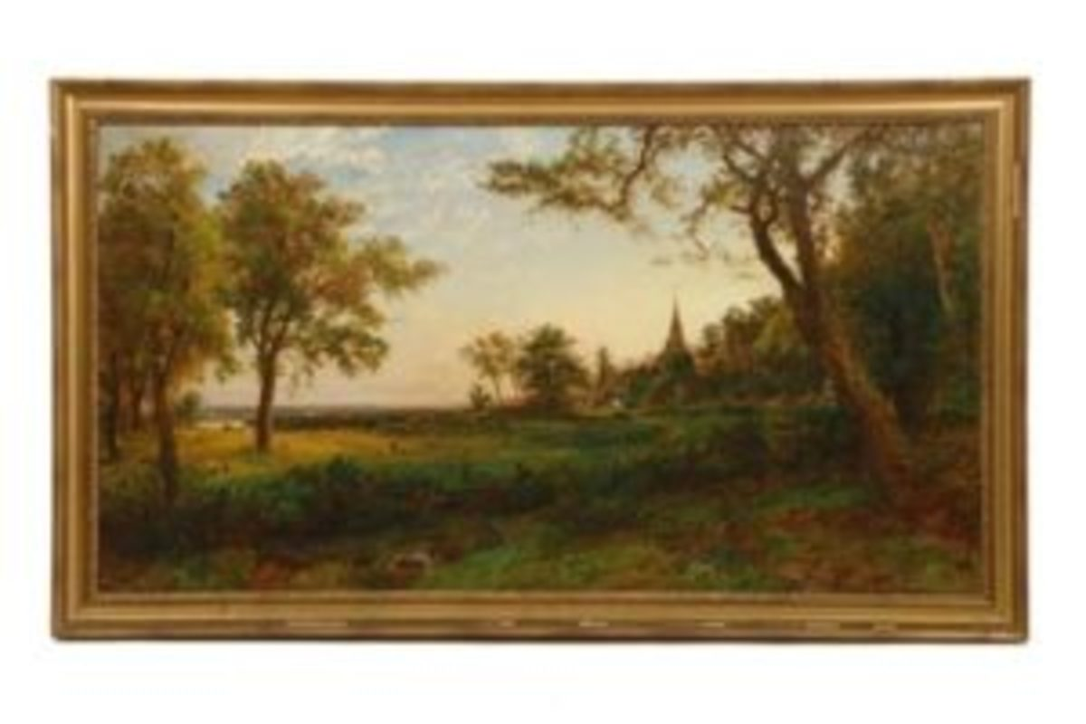"Jasper Cropsey painting ""Gray's Elegy at Stoke Poges"""