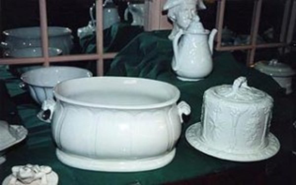 White Ironstone China auction