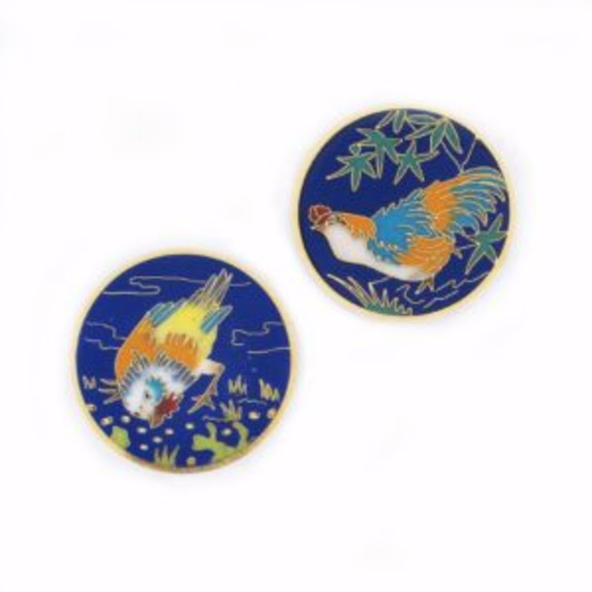 Pair of antique cuff buttons by Alexis Falize