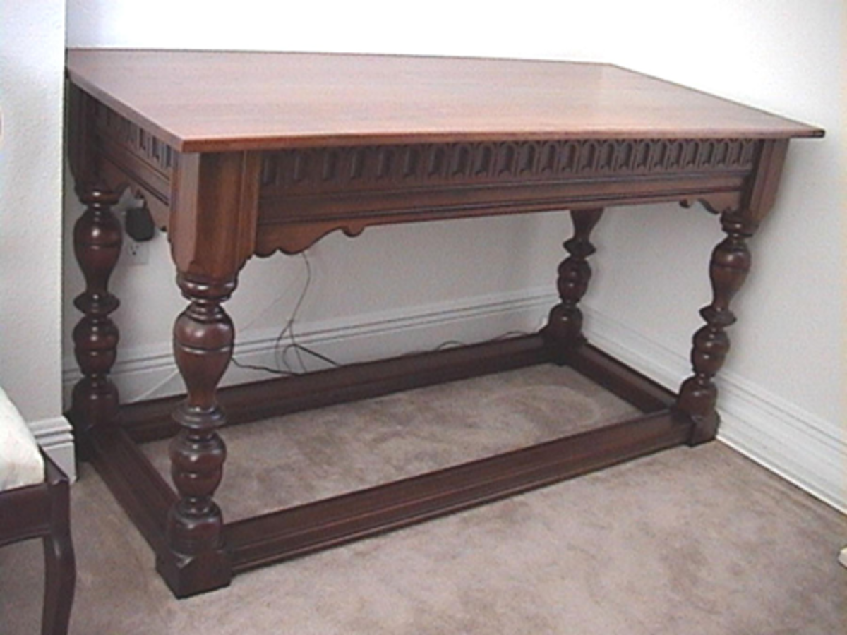 Reproduction refectory table