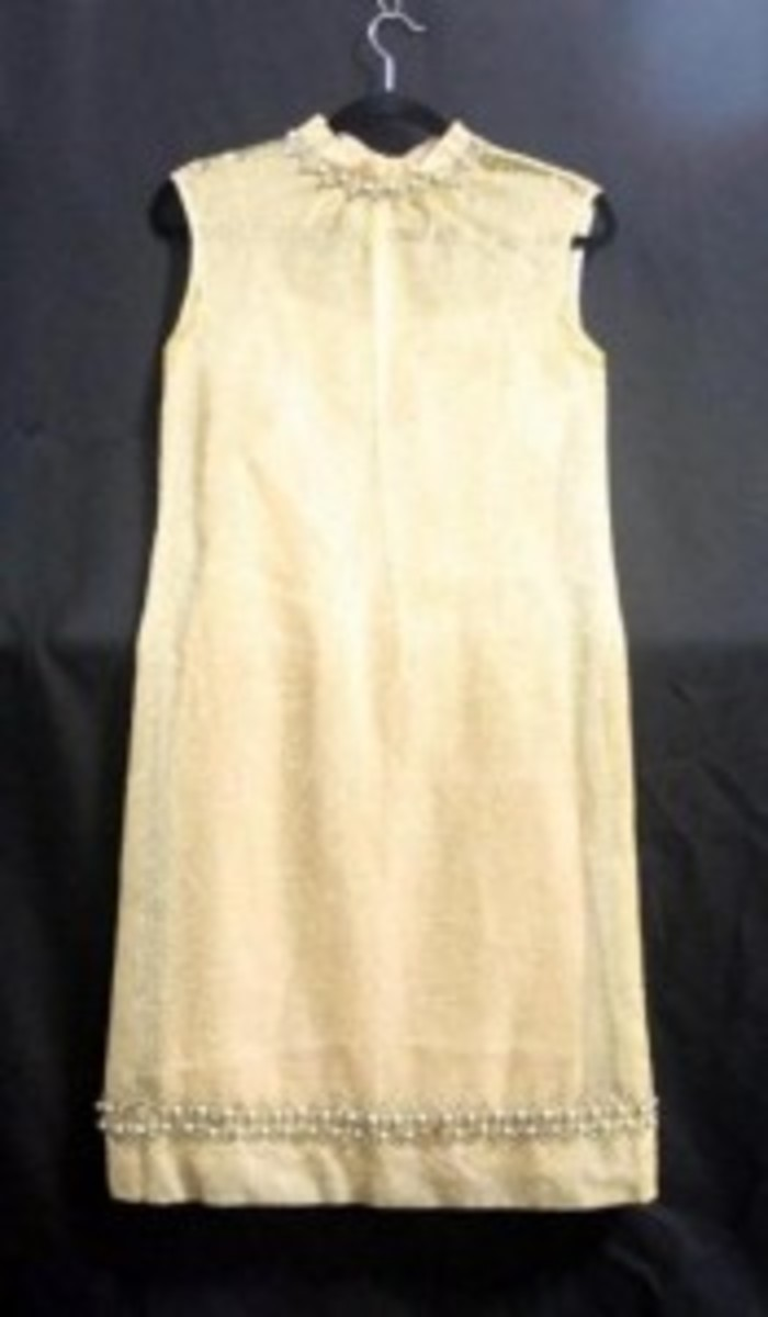 Dress specifically made and worn for and by Jackie Kennedy, while First Lady.