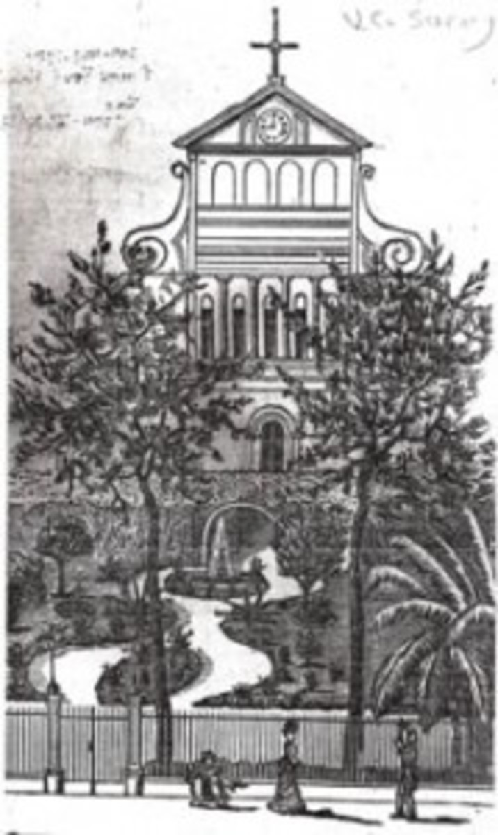 Early drawing of St. Anthony Gardens