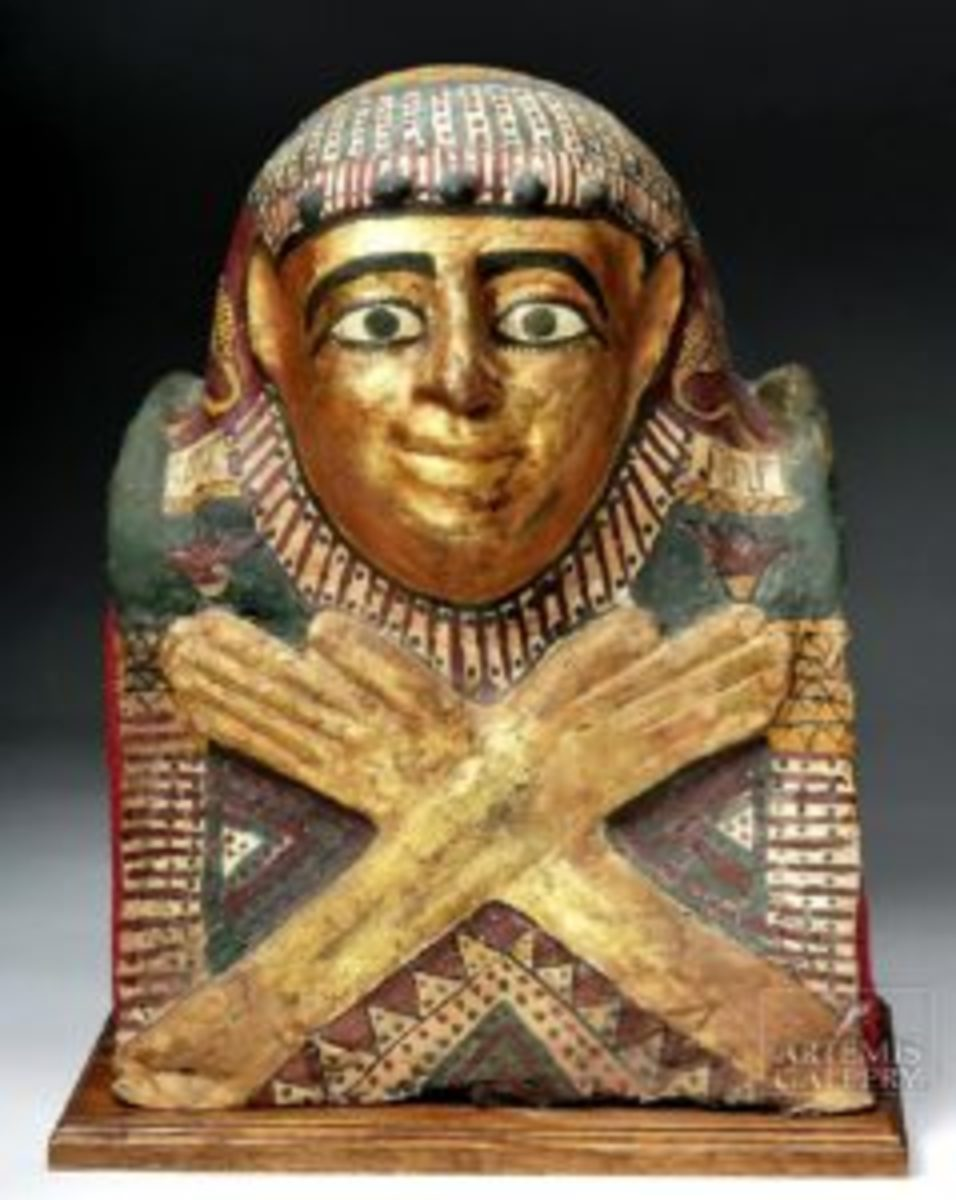 Child sarcophagus helmet mask