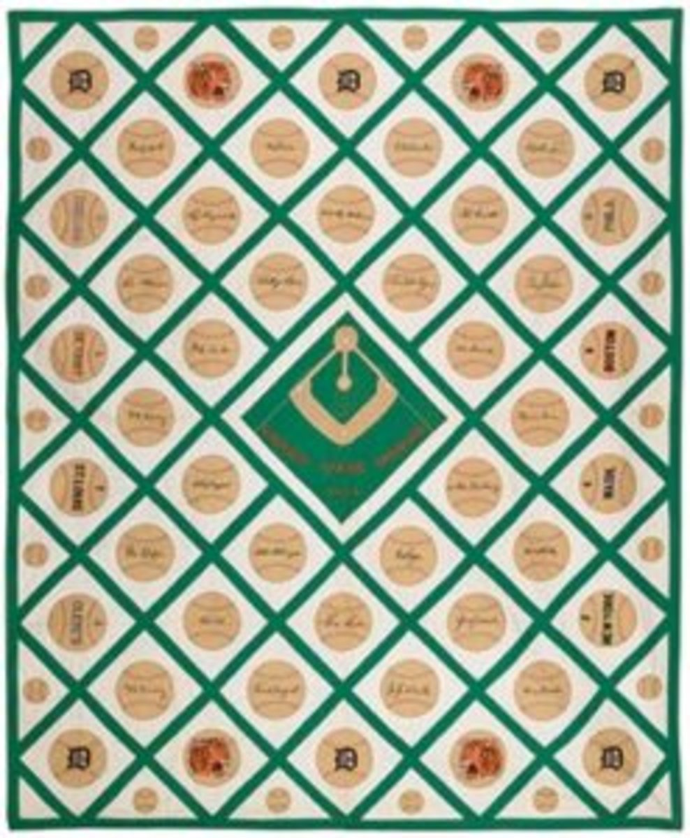 Tiger Pennant Base ball quilt