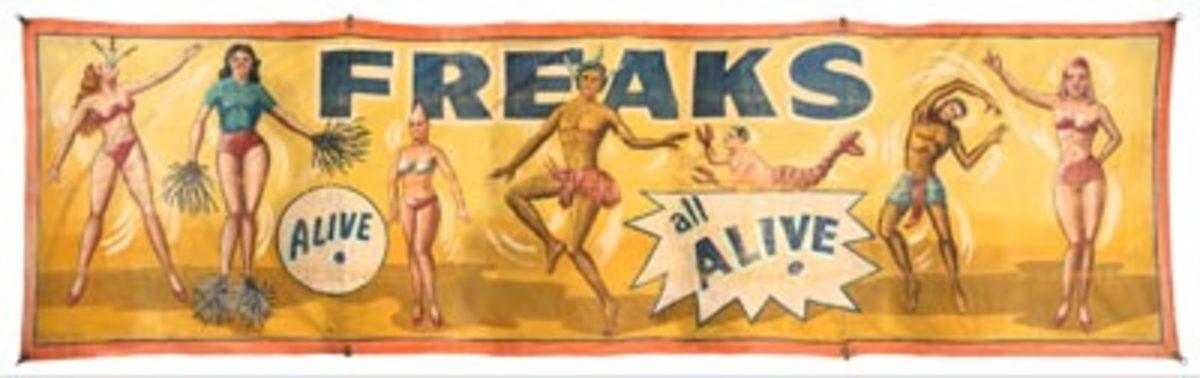 Freaks Alive, $3,000-$5,000. Photos courtesy Potter & Potter Auctions