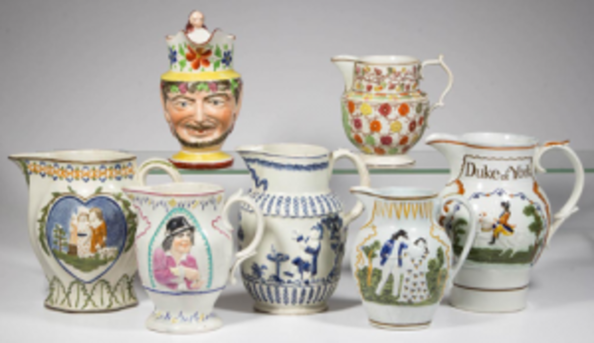 Pearlware pitchers
